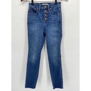 Madewell Button Fly High Rise Skinny Crop Jeans
